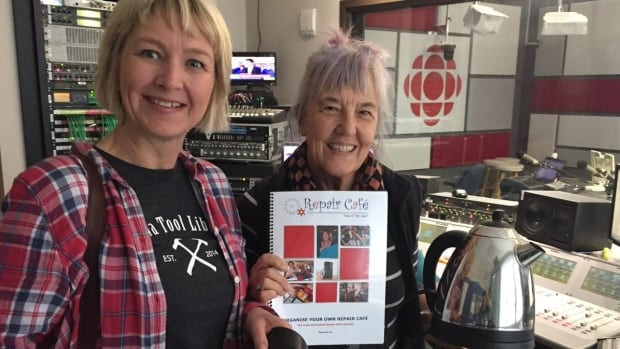 Ottawa Tool Library co-founder Bettina Vollmerhausen, left, and volunteer Marit Quist-Corbett, right, will be helping out Saturday at the local non-profit's first-ever Repair Café.
