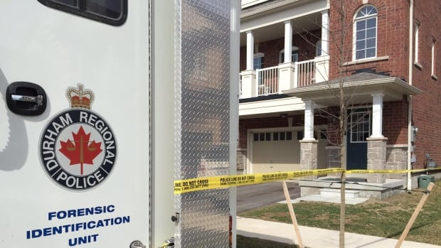 Durham Regional Police taped off a home in Pickering after a woman was found dead inside with obvious signs of trauma Friday night.