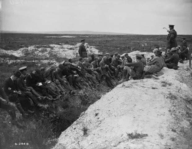 the overnight battle on vimy ridge that gave the montreal crater  canadian journalists photographed at the montreal crater during a tour of vimy ridge battlefield led by canadian general staff officers