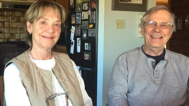 Maureen and Wendell Strong have two former Lexin Resources natural gas wells on their land near Nanton, Alta. The province's energy regulator shut down the struggling company back in February.