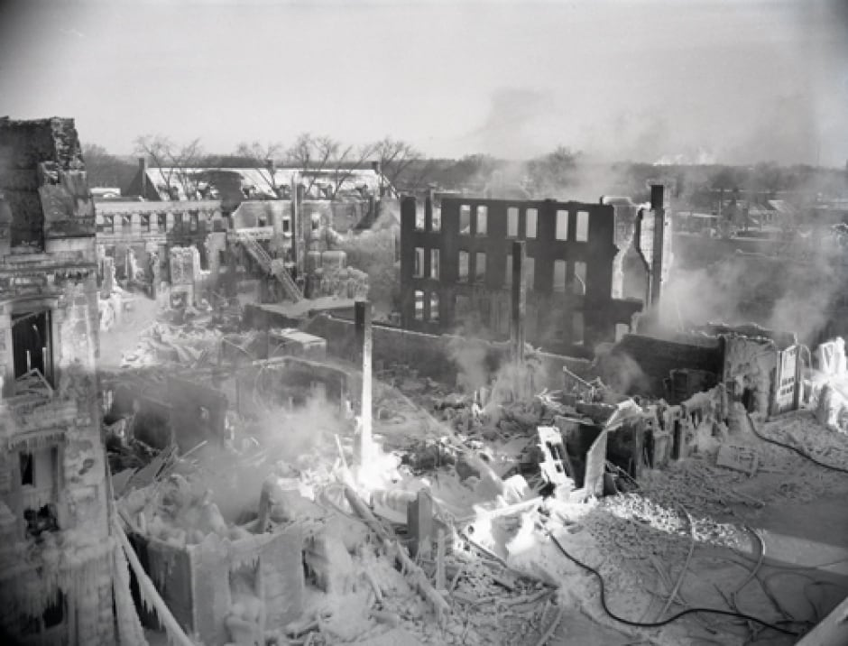 Byward Market fire aftermath January 3,1957