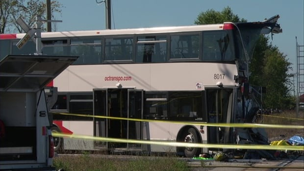 On Sept. 18, 2013, a double-decker OC Transpo bus struck a Via Rail train at the Fallowfield crossing. Six people aboard the bus, including the driver, died in the collision.
