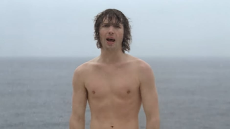 James Blunt is shown in the video for his hit song You're Beautiful.