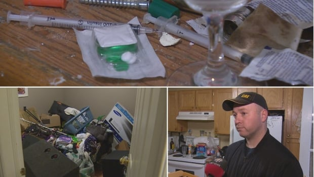 Matt Doyle found lots of evidence of drug use after he finally got the tenants out of his basement apartment.