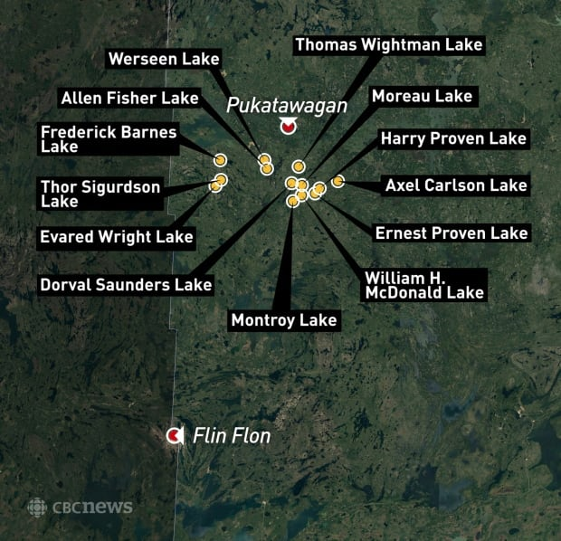 Manitoba lakes named after soldiers in world war one