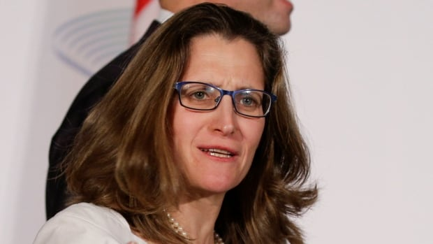 Foreign Affairs Minister Chrystia Freeland, at the G7 meeting in Italy, said Canada is looking very carefully at whether to impose additional sanctions on Russia.