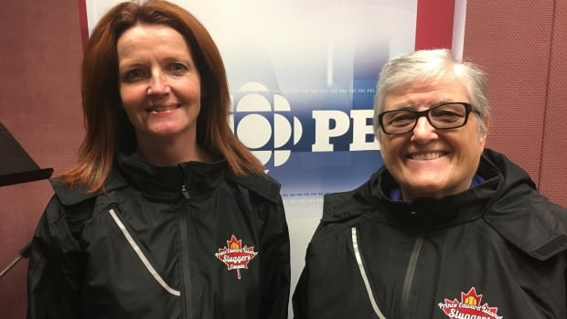 Wilma Ramsay (left) and Carol Wayne are among 18 members of the Subway Sluggers heading to Auckland, New Zealand for the World Masters Games.