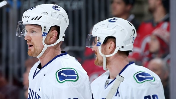 Henrik Sedin (33) and Daniel Sedin (22) of the Vancouver Canucks put up 50 and 44 points, respectively, this season.