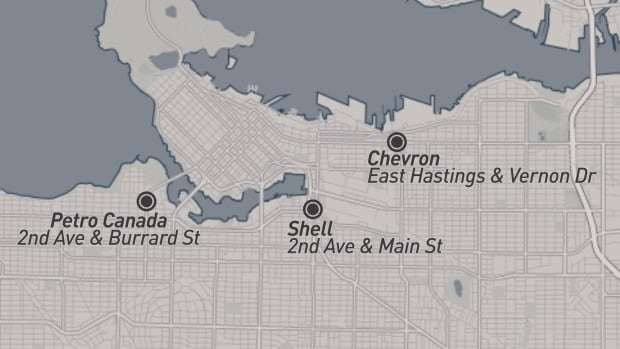 Gas stations in Vancouver