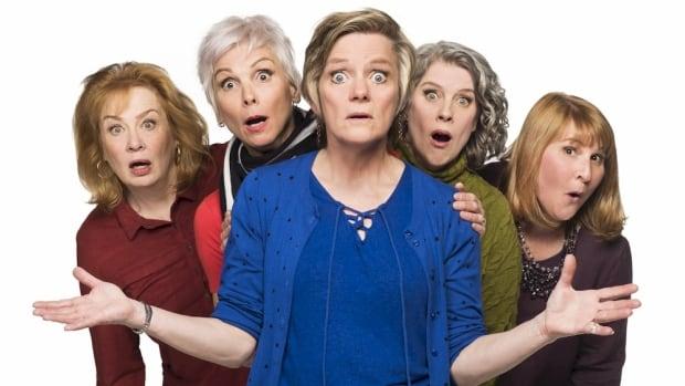 Barbara Pollard, Jill Daum, Robin Nichol, Alison Kelly and Deborah Williams (from left to right) star in of Mom's the Word 3: Nest ½ Empty.