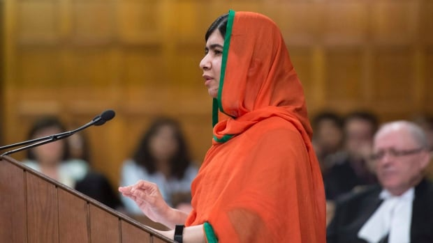 Malala Yousafzai addresses the House of Commons after receiving honorary Canadian citizenship.