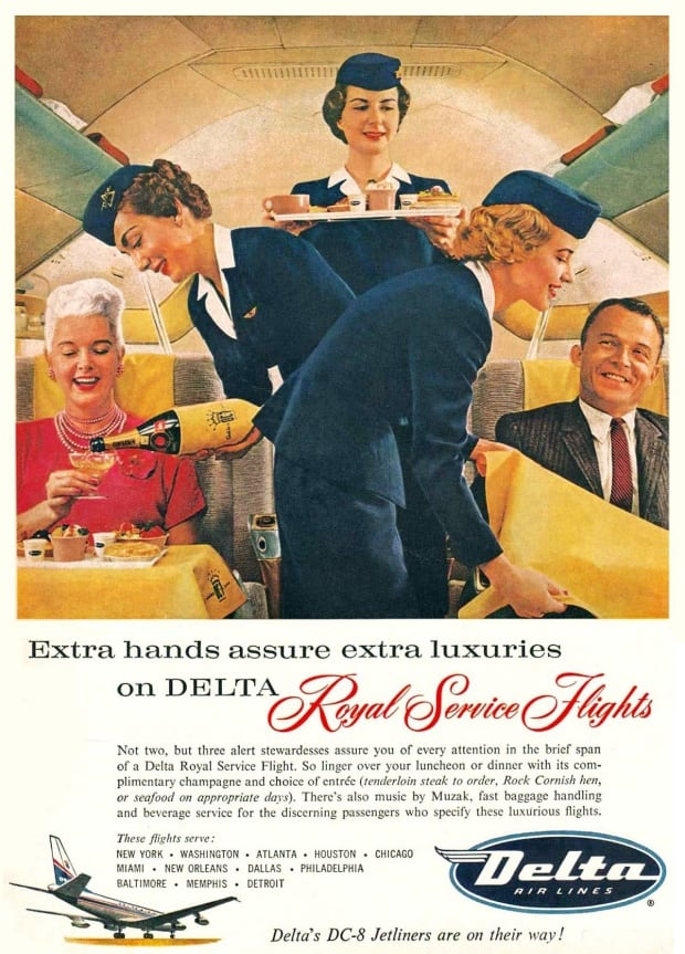 Delta Airlines ad from the 1959