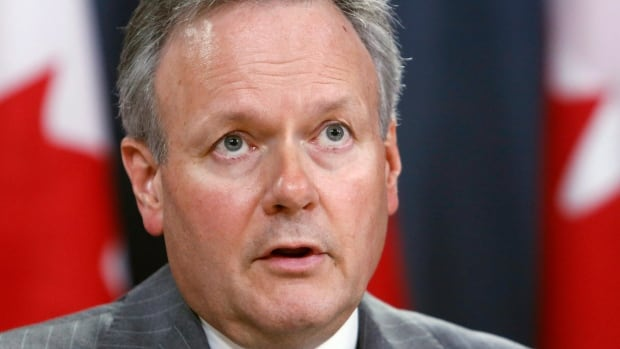 Stephen Poloz, governor of the Bank of Canada, holds a news conference after the release of the bank's Monetary Policy Report, in Ottawa on Wednesday.