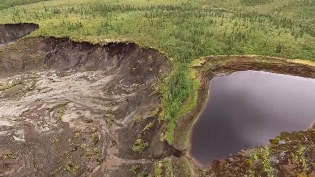 Permafrost slump