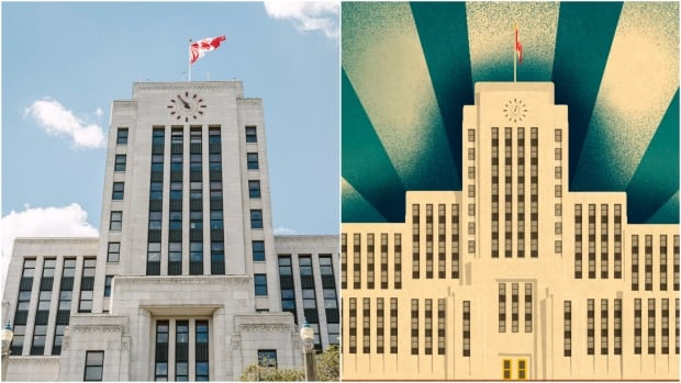 Photos by Simon Desrochers and illustrations by Matthieu Persan are featured throughout The Lost Vancouver: An Unexpected Art Deco Tour.