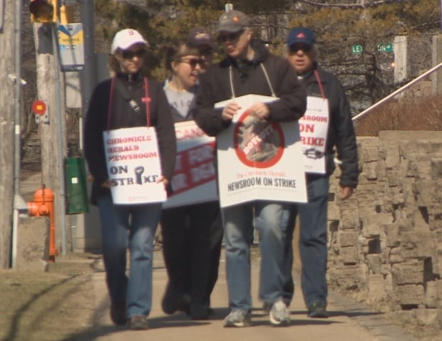Striking Chronicle Herald workers