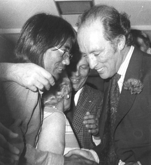 Tsering Wangkhang with Pierre Trudeau