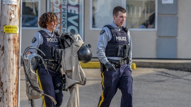 When the incident ended, RCMP had the man's elaborate costume.