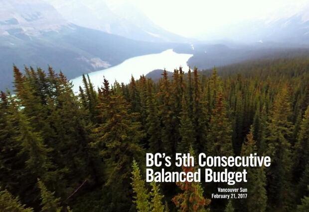 screen grab B.C. Liberal attack ad, Peyto Lake