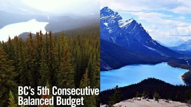 A B.C. Liberal Party election ad features Alberta's Peyto Lake.