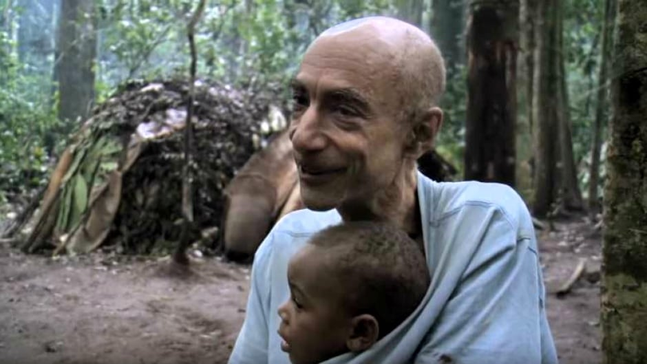 Louis Sarno, seen here in a still from the documentary Song From The Forest, always had a way with children, his friend Jim Jarmusch told As It Happens.