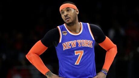 Knicks Embattled Carmelo Basketball