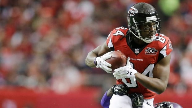 Roddy White, pictured during a 2015 game, retires as the Falcons' all-time leading receiver.