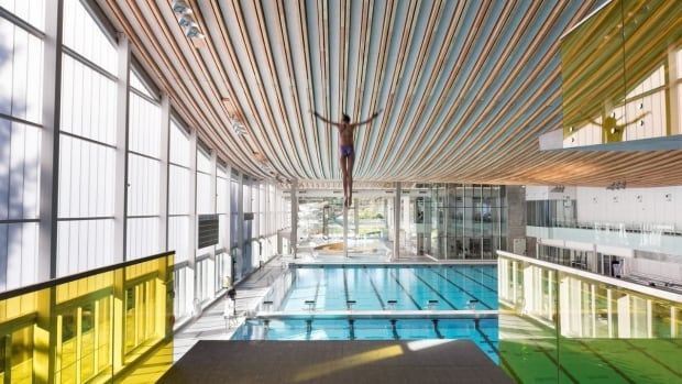 This image of a diver at the Grandview Aquatic Centre in Surrey is a finalist for an Architizer award.