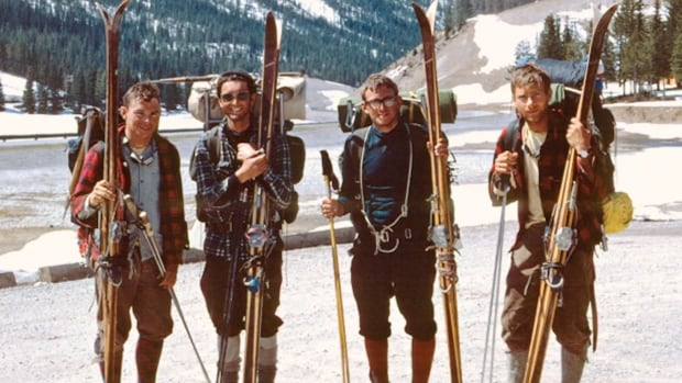 John Hartman's painting exhibit documents a 1967 skiing journey between Jasper and Lake Louise.