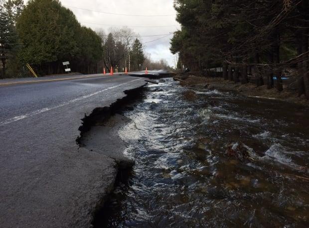 Rawdon road closed flooding