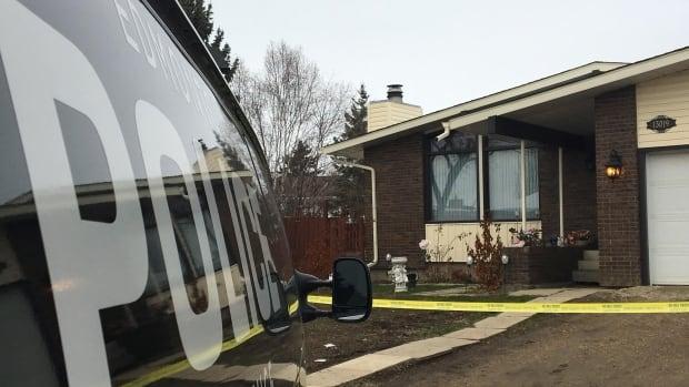 Edmonton police investigate a suspicious death in northeast Edmonton Monday.