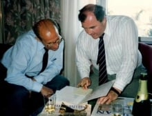 Yevgeni Brik (left) with CSIS officer Donald Mahar (right)