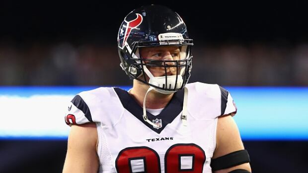 After missing action for the first time in his career last season while recovering from back surgery, J.J. Watt was happy to start off-season workouts with his Houston Texans teammates.