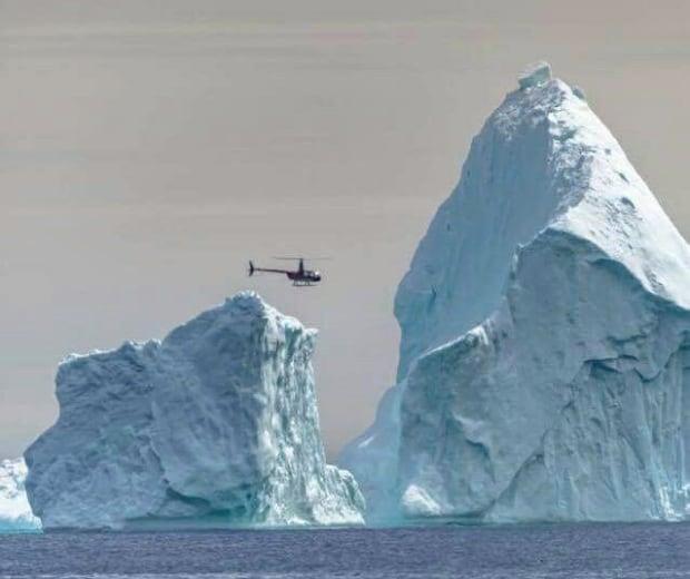 Ferryland iceberg helicopter