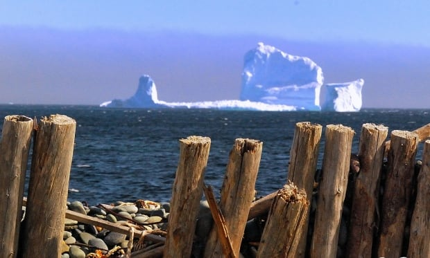The Ferryland iceberg, seen over the Easter weekend