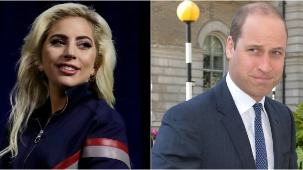 Prince William, right, released a video on Tuesday, in which he speaks about mental health awareness with pop superstar Lady Gaga.