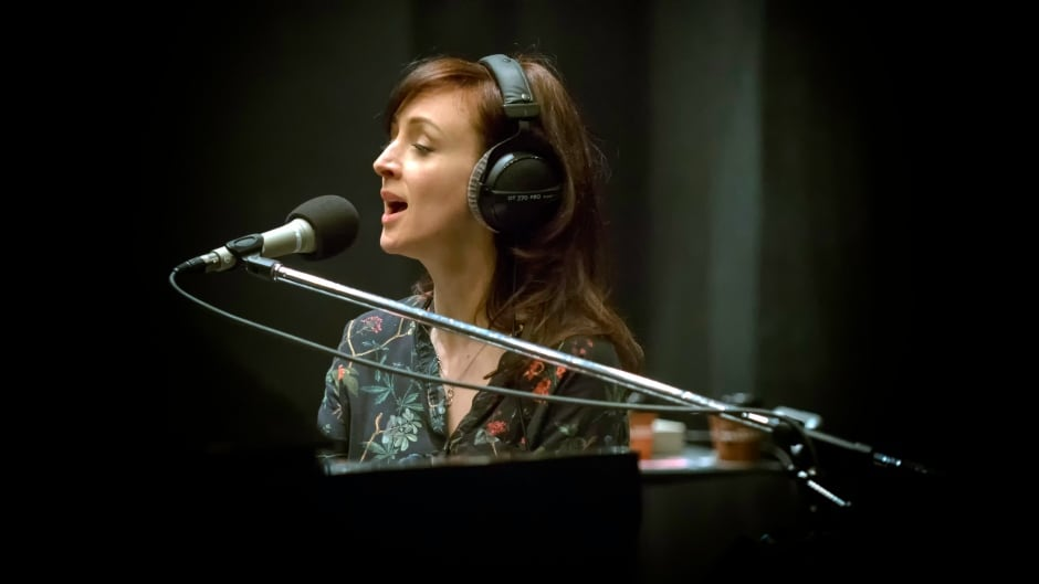 Sarah Slean performing live in the q studios in Toronto, Ont.