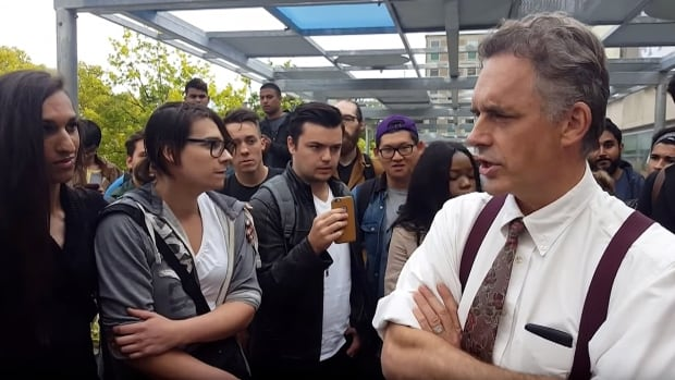 University of Toronto psychology professor Jordan Peterson has become a divisive figure in the debate over free speech vs. censorship on Canadian campuses. His rallies are often targeted by protesters.