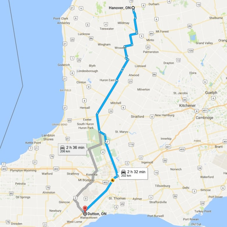 Hanover Ontario Map