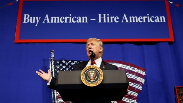 "Speaking at a factory in Kenosha, Wisc., on Tuesday, U.S. President Donald Trump said he plans to sign an executive order that will urge American companies to do one thing: ""Buy American and hire American."""