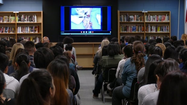 For the fourth time, students at Sisler High School watched a livestreamed surgery from the Pan Am Clinic.