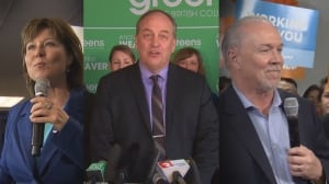 Who are the 371 candidates running in the B.C. election?