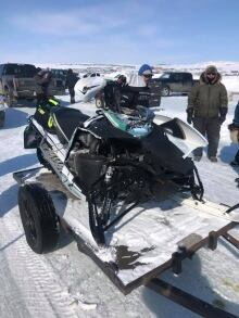 David Coulombe's snowmobile