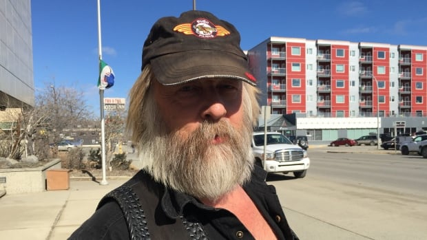 Tony Beets in front of the Whitehorse courthouse in April. He was sentenced in Yukon Territorial Court on Friday.