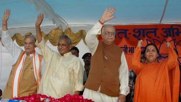 LK Advani, MM Joshi and Uma Bharti