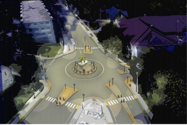 Sandwich Town roundabout
