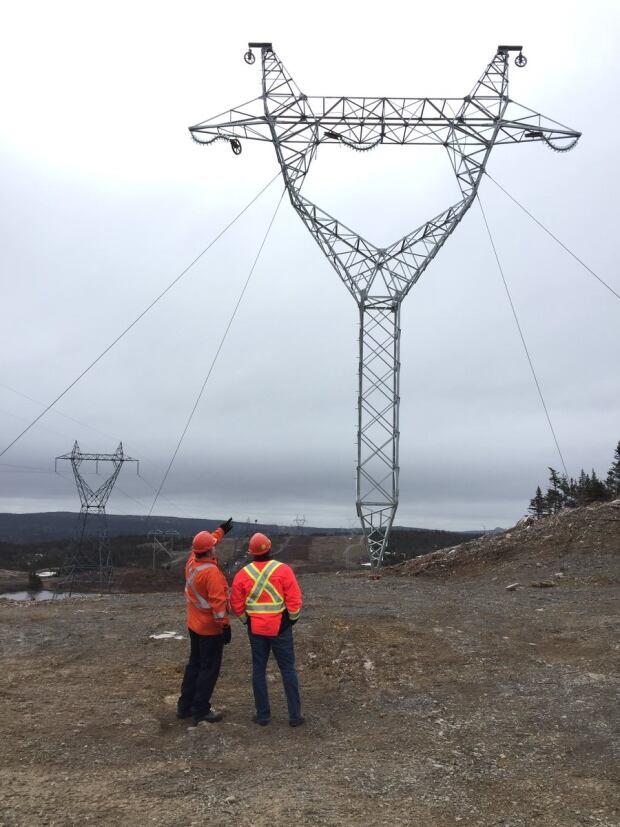 hydro transmission towers bay'd'Espoir