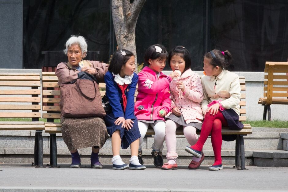 pyongyang street life