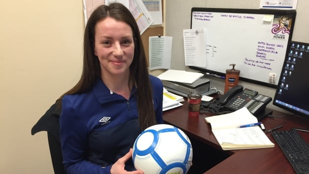 'It was pretty exciting. I think I almost cried when I signed my contract,' says Lyric Sandhals, the new full-time executive director for NWT Soccer Association.