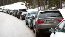 Sunshine Village parked cars